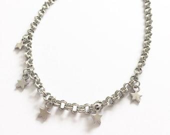 Star charm choker necklace