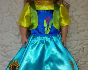 Anna Elsa dress with sun flowers