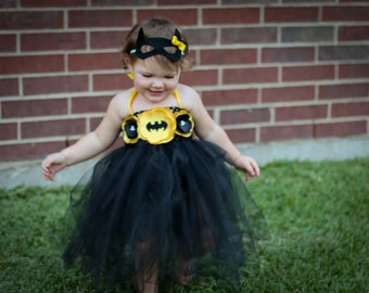 Baby Batgirl Costume & Batgirl costume for 18 inch doll