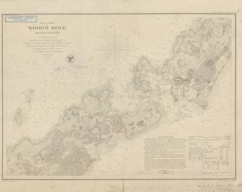Woods Hole Map 1857