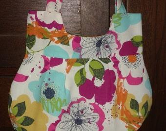 Handbag, All occasion bag, Shoulder bag, Purse, Everyday purse, Flower Multi Color Purse, Flower Multi Color Handbag