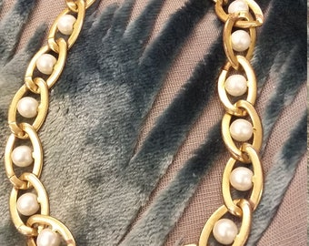 Vintage Napier seed pearl link bracelet