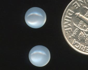 WHiTE MOONSTONE AAA & AA grade 6mm Cabochons One Pair