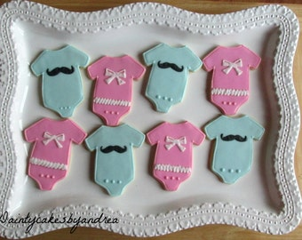 Gender Reveal Cookie favors! Perfect for a gender reveal party!