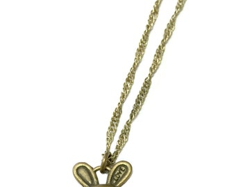 Antique Brass Bunny Love Necklace