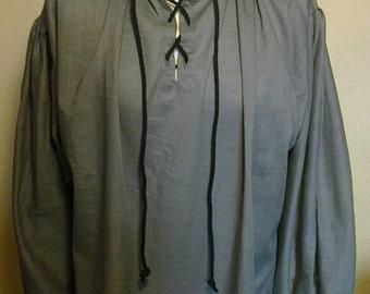 Pirate shirt, lace up pirate shirt,Inigo Montoya style lace up shirt, The Princess Bride, Renaissance pirate shirt