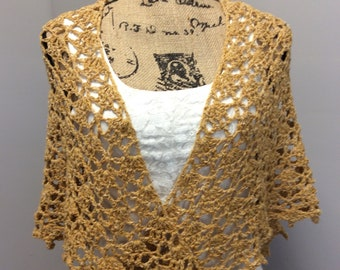 Hand crocheted shawl/shoulder wrap/boho scarf/triangle shawl/wedding shawl