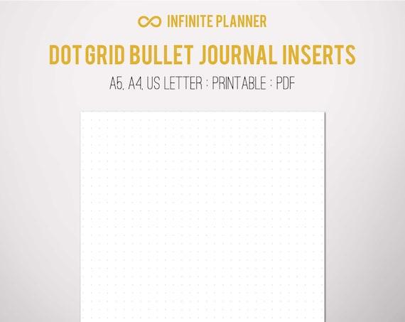 Dot Calendar Bullet Journal : A dot grid page bullet journal printable