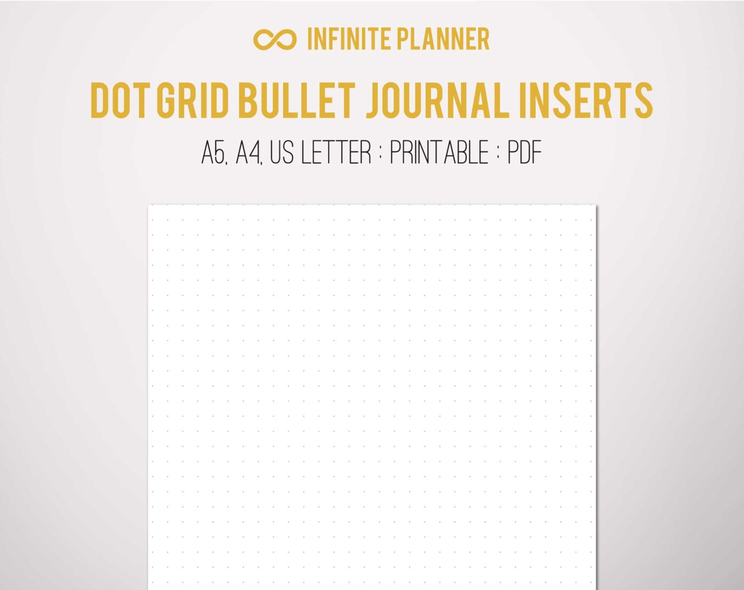 Enterprising image for bullet journal dot grid printable