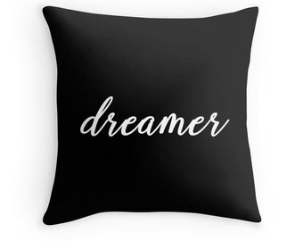 Dreamer Pillow, Dream Pillow, Dreamer Toss Pillow, Dream Throw Pillow, Dreamer Pillow Case, Dream Toss Pillow, Dreamer Pillow Cover, Dreamer