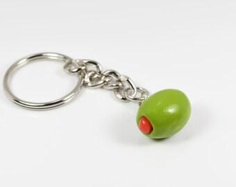 Olive Keychain / Foodie Keychain