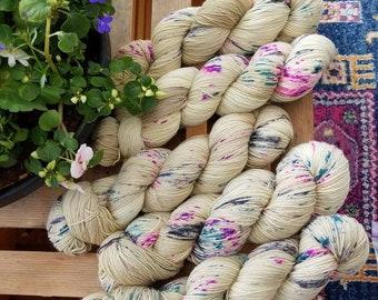 JANE EYRE 463 yards on 'Posh' Sock Yarn/ 4 ply merino, kettle dyed speckled yarn