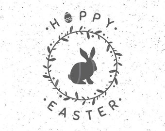Easter svg Hoppy Easter SVG Easter svg file Easter bunny svg Hoppy Easter svg file Easter Bunny svg Happy Easter svg Egg Svg Bunny svg file
