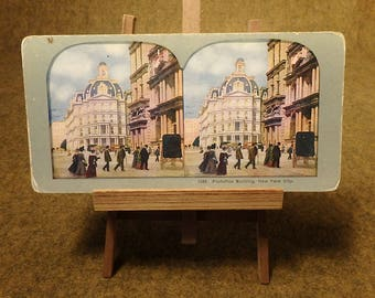 Post Office Building Vintage  Stereoscope Card - No. 1235 New York City