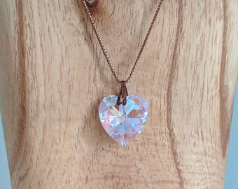 Mother's Day Sale - Rosaline Blue Swarovski Crystal Heart Pendant
