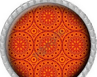 Pendant Cabochon - orange (232)