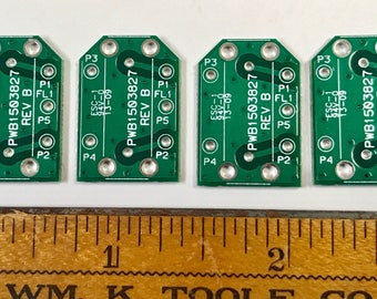 "Vintage RECYCLED Loose Printed Circuit Board Reclaimed (PCB) Green Silver 1 x 5/8"" Pkg4 PCB26"