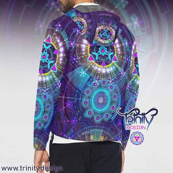 Festival Ravewear Clothes Burning Hippie Clothes Men Futuristic Sacred Jacket Music Rave Windbreaker Clothing clothing Geometry Man Clothing P0nZqw