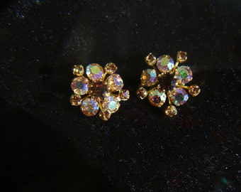 Rhinestone Earrings  (clip-on)