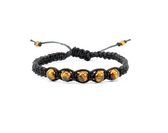 Tiger Eye Bracelet, Gemstone Bracelet, Friendship Bracelet, Yoga Bracelet, Chakra Bracelet, Gift for Him, Meditation Bracelet, Tigers Eye
