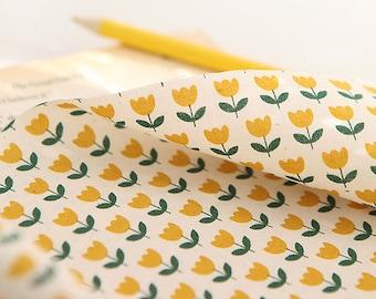 Lovely Yellow Tulip on Cotton, U062