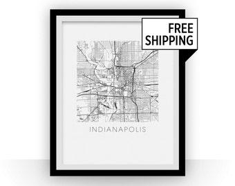 Indianapolis Map Print