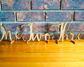 Free Standing Wedding Table Numbers & Signs