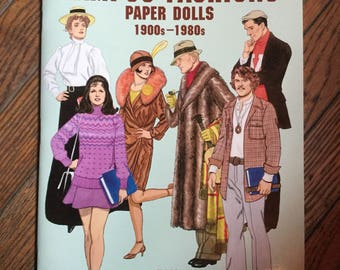 Vintage 2001 Campus Fashions Paper Dolls Book Tom Tierney