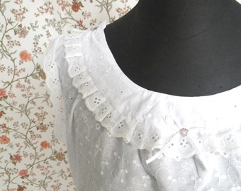 Backfisch # 1 - victorian chemise shirt Undershirt for a corset for bustle gown nightgown