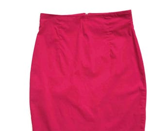 90's High Waist A-line Pink Mini Skirt