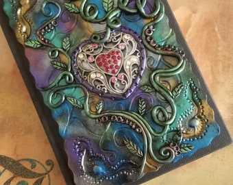Silverglow - personalized journal, polymer journal, diary, custom journal, personalized sketchbook, custom sketchbook, custom photo album