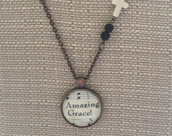 Amazing Grace necklace , Diffuser necklace