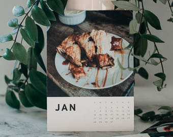 Foodie 2018 Desk Calender 5x7 Food Photography Fine Art Photo Calendar