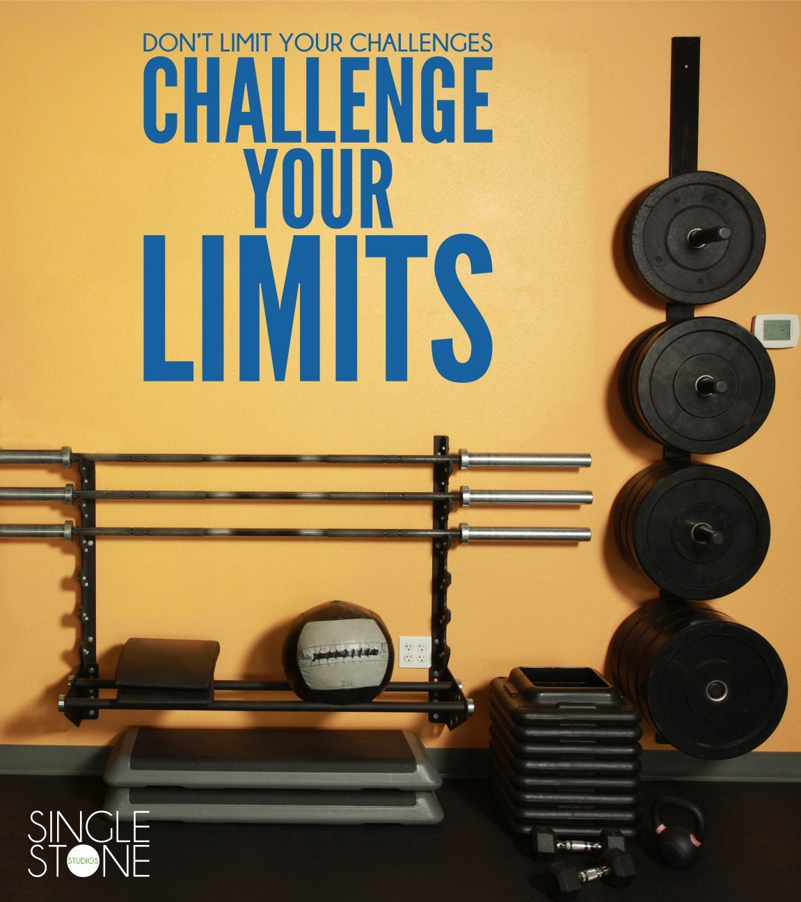 Home Gym and Fitness Wall Decal Challenge Your Limits Vinyl