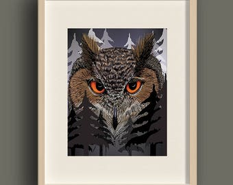 High Quality Photo Print - Spirit Guide - Owl