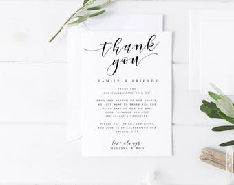 thank you template for wedding