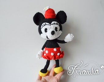 Crochet PATTERN No 1804 Vintage Minnie the Mouse by Krawka