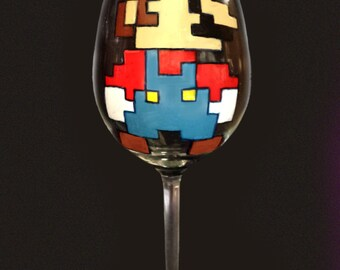 Super Mario Bros. Inspired Wedding Glasses - Handpainted