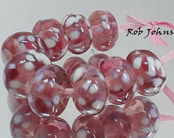 Sweet Roses, Artisan Lampwork Glass Beads, SRA, UK