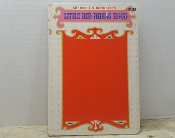 My Tiny 3-D Book Series, Little Red Riding Hood, 1960s, vintage kids book