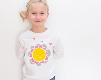 Girls Flower Tshirt // Flower Girl Tshirt // Flower Tshirt // Girls Top // Girls Tshirt // Toddler tshirt // kidswear // Kids Tshirt