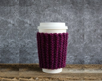 Cup Cozy, Coffee Gifts, Coffee Cup Sleeve, Coffee Mug Cozy, Coffee Cozy, Tea Cozy, Coffee Sleeves, Chunky Knit Coffee Cup Cozy Coffee Favors