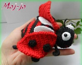 Ladybug * Amigurumi crochet ladybug * crochet insect * Mother's Day Gift * Animal crochet * crochet toys * Handmade*summer* red