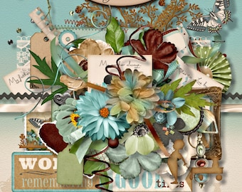 Digital Scrapbook: Elements, Embellishments, In My Day