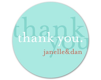 Personalized Thank You Labels - Custom Wedding Stickers - Bridal Shower Labels - Personalized Wedding Favor Stickers -  Thank You Labels