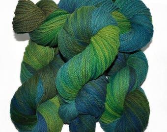 Hand dyed yarn - Columbia Wool yarn, Worsted weight, 170 yards - Miming