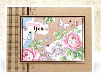 All Occasion Card- Just For You Card- Birthday Card- Thinking of You Card- Friend Card