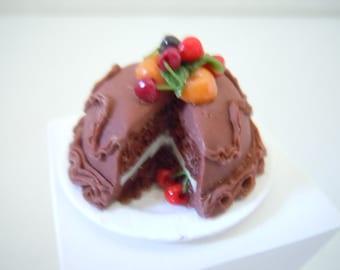 Miniature Cake ~ Cherry Cake ~ Chocolate Cake ~ Bakery ~ Dessert ~ Baked Goods ~ Sweets ~ Kitchen ~ Fairy garden ~ Dollhouse ~ Accessories