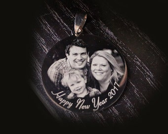 Customized engraved Stainless Steel pendant - Man jewelry - Message pendant - Personalized necklace - Rock - Photo engraved