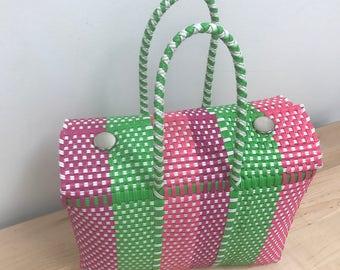 Neon Pink Large Lonchera Bag
